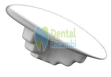 Immagine di Fungo ceramica per sputacchiera bacinella gruppo idrico OMS (463500)