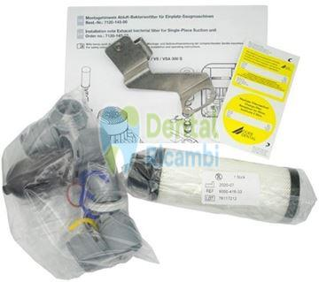 Picture of DURR Exhaust air Bacteria filter, with kit mounting bracket and accessories, for VS 250 S, V/VS/VSA 300 S, Variosuc and PTS 120